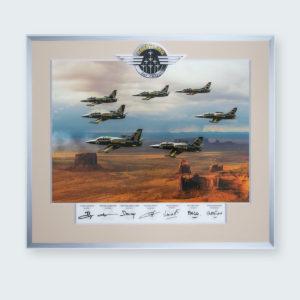 Cadre Breitling Jet Team Dédicacé
