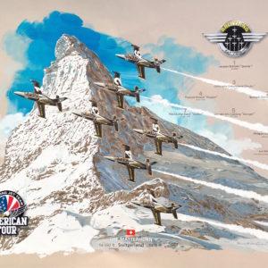 Poster Breitling Jet Team Dédicacé / Dedicated